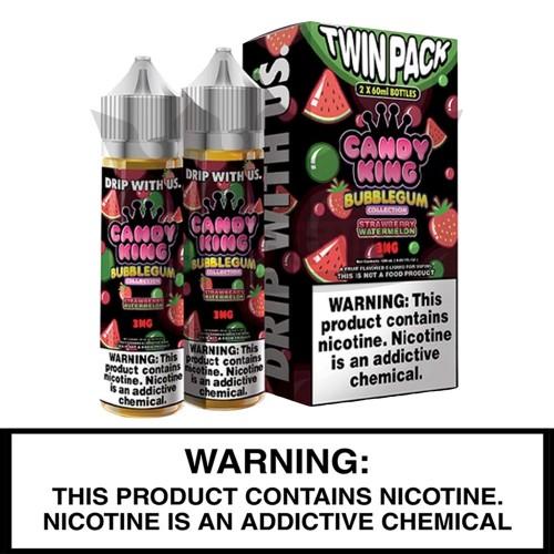 Candy King Bubblegum Twin Pack | Dripmore | 2 x 60mL Freebase Bottles