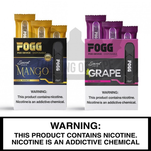 Fogg Disposable Vape Device - 3PK