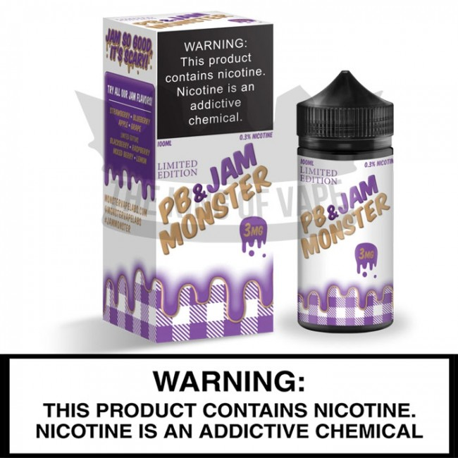 Jam Monster by Monster Vape Labs | Peanut Butter and Grape Jam