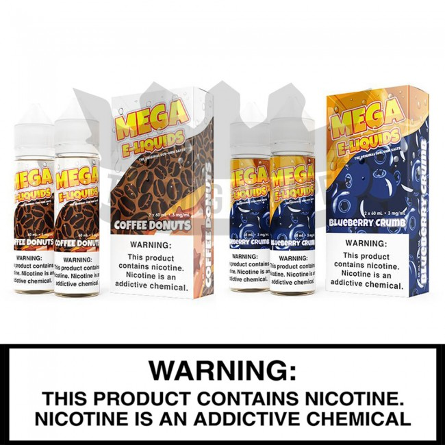 Mega / VRDCT E-Liquids | Verdict Vapors | 2 x 60mL Freebase Bottles