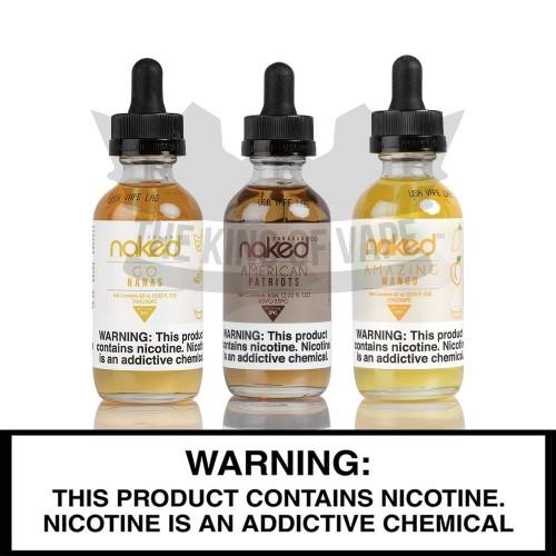Naked100 E-Liquid | 60mL Freebase Bottles