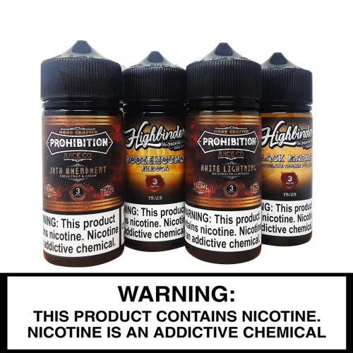 Prohibition E-Liquid | 100mL Freebase Bottles